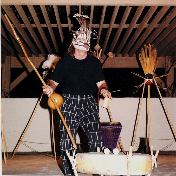 Artist Explores Myths with Masks and Drums: Jan. 2013