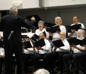 Vail Chorale founder Fred Reinagel conducts the group in a photo taken at an earlier concert.