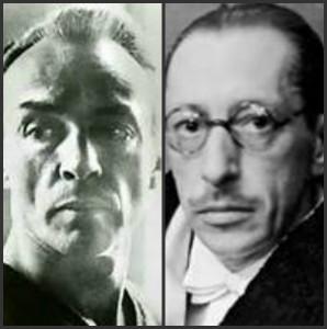 Balanchine (left) and Stravinsky