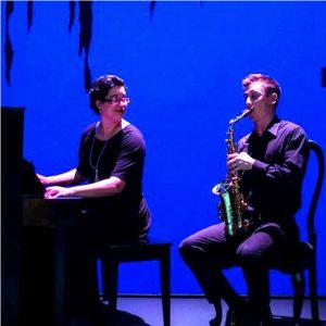 Pianist Mary Turcotte and saxophonist Derek Granger