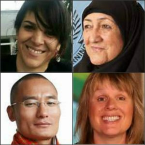 Wednesday's TED Talks speakers are (clockwise from upper left) Monica Araya, Sakena Yacoobi, Jill Heinerth, and Tshering Tobgay.