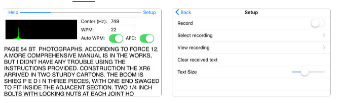 Morse Pad is a morse code decoder /reader app for IOS