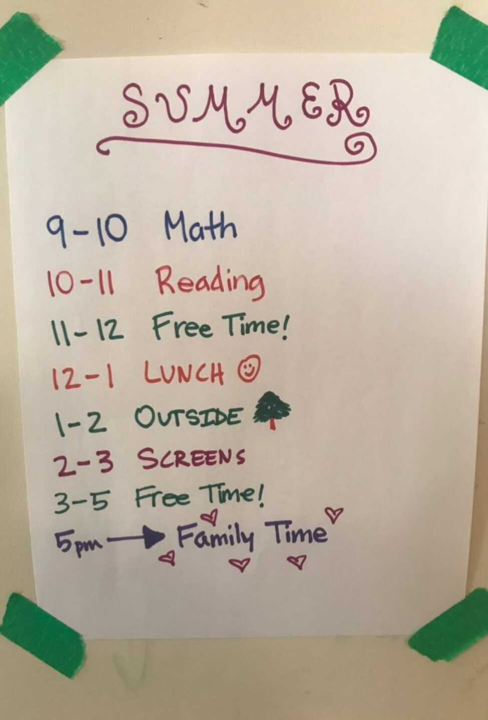 Summer Schedule - Screen-Free Play Ideas