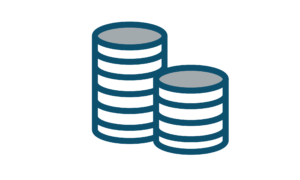 Icon of coins depicting Accounting services area