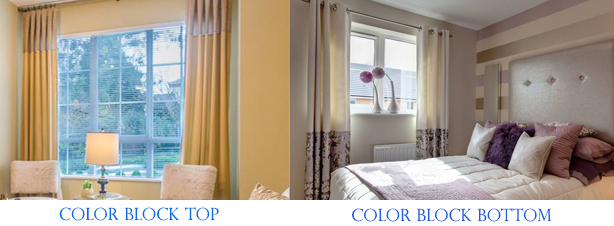 custom color block curtains drapes panels