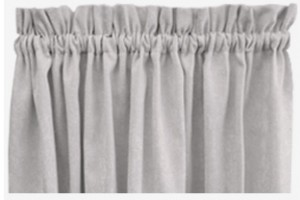 rod pocket curtains header size