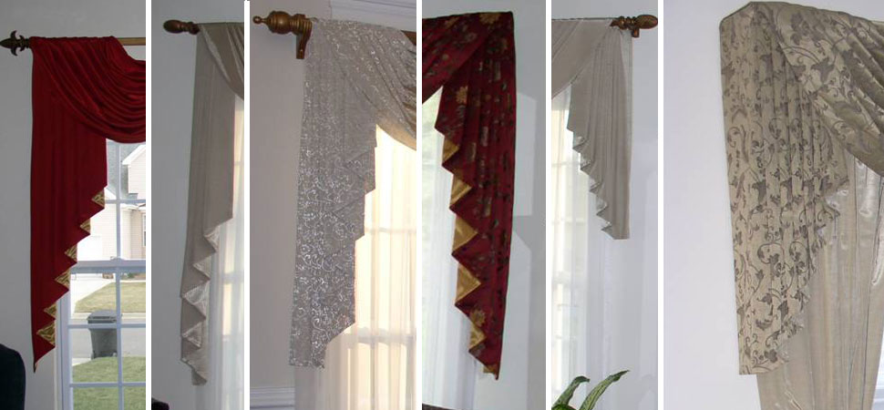 cascades custom window swags custom window sconces