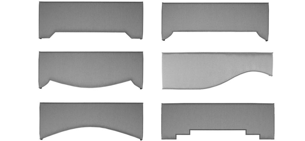 specialty Cornice Shapes cornice Ideas specialty pelmet shapes pelmet ideas