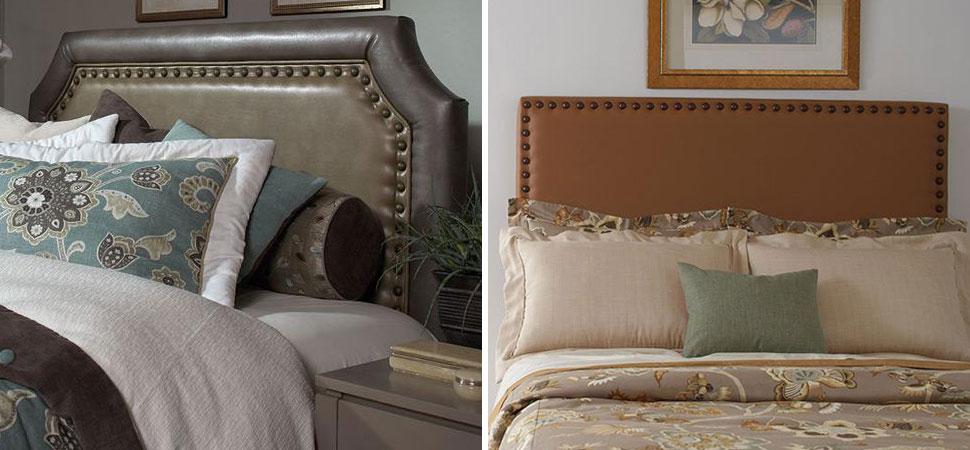 Custom Upholstered Headboard Lafayette Interior Fashions upholstered headboards green leather