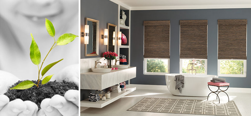 eco-friendly sustainable Graber Green by Nature Natural Shades Sustainable natural fiber roman shade