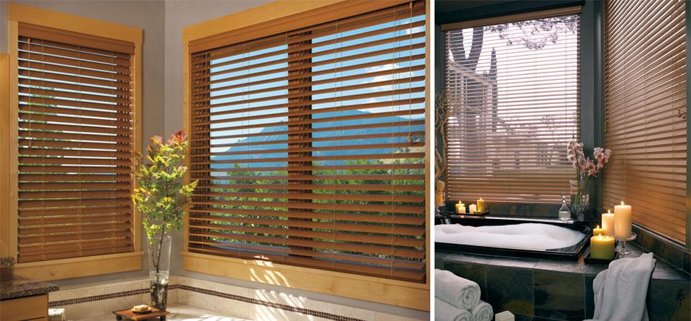 Faux Wood Blinds bathroom Venetian blinds ideas light filtering large window