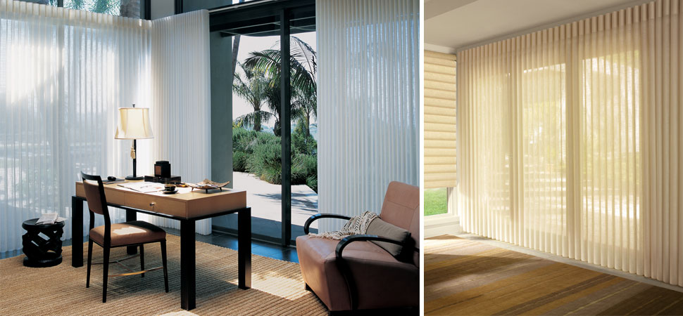 custom hunter douglas vertical blinds Luminette large windows cream hunter douglas Luminette Vertical Blinds sheer Fabric Vertical