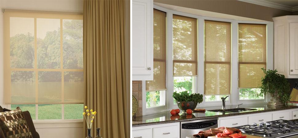 Patio Sun Shades hunter douglas designer solar shades window panels light filtering roller shades outdoor curtains