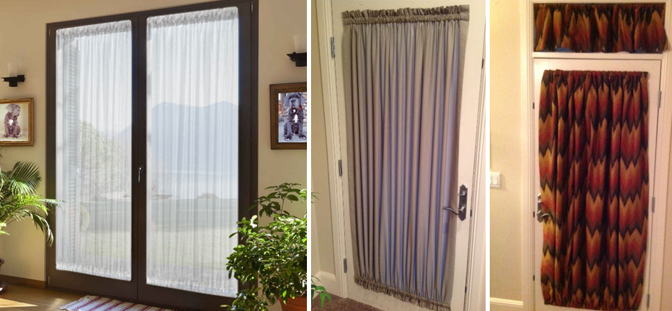Custom Curtains for French Door grommet top curtains