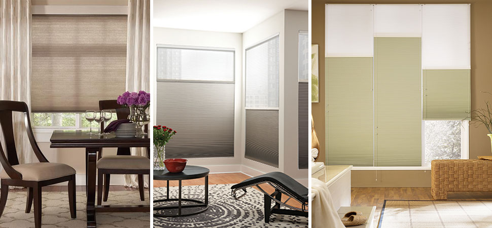 fabric shades honeycomb shades cellular shades Graber Honeycomb window shades top down bottom up cordless shade