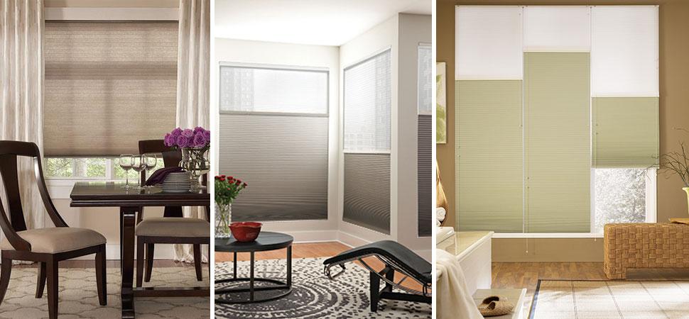 fabric shades honeycomb shades cellular shades Graber Honeycomb window shades top down bottom up cordless shade