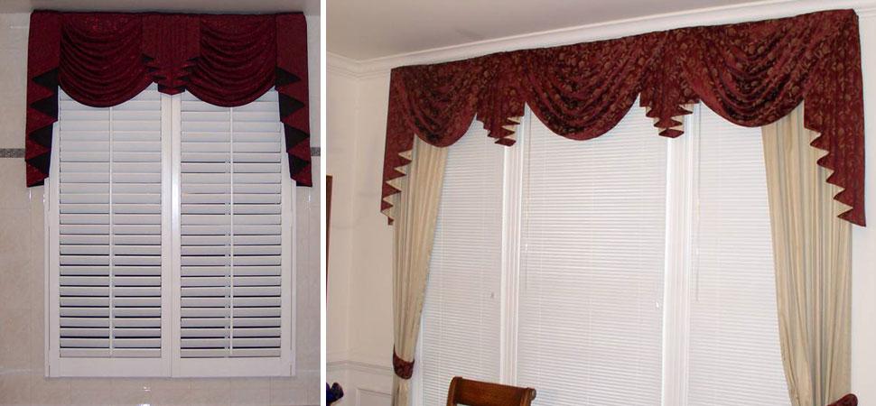 custom window sconces custom window swags red cascades