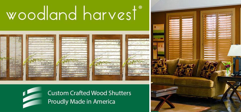 custom shutters - plantation shutters Made in America Woodland Harvest Shutters Premium Hardwoods white shutters