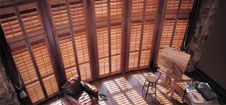shutter-hunter douglas wood shutters plantation shutters custom Denver