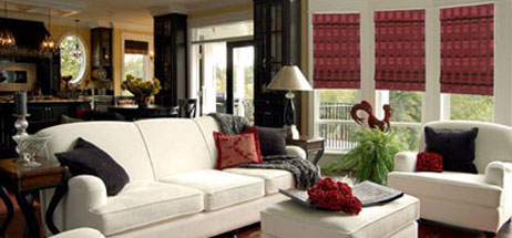 Fabric Roman Shades relaxed roman blinds flat roman curtains
