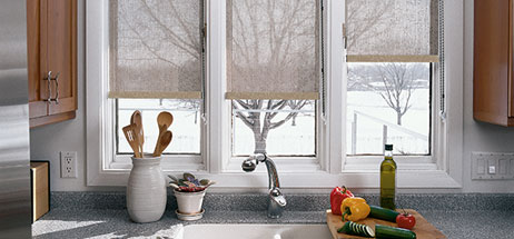 kitchen ideas - window treatments - blinds - shades