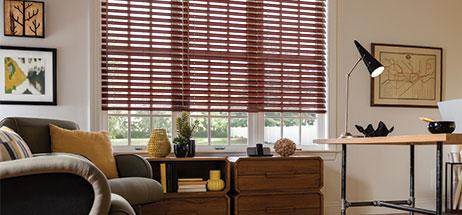 home office ideas den decorating ideas wooden blinds