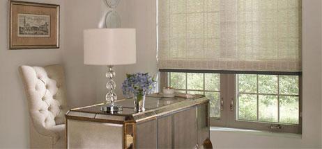 home office ideas roller blinds den decorating