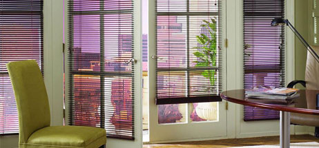 home office ideas den decorating ideas metal blinds