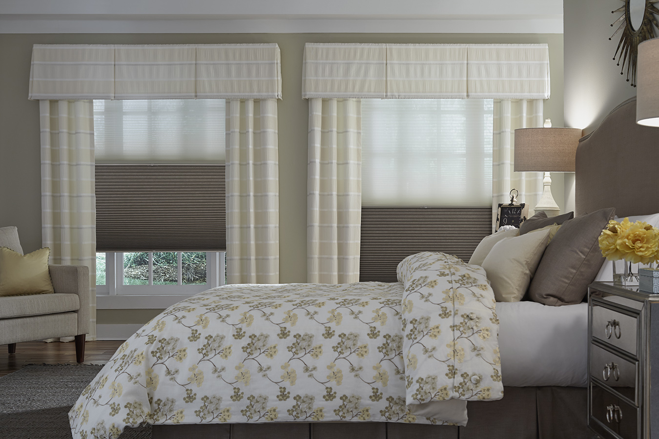 Duo Shade with valance and panels