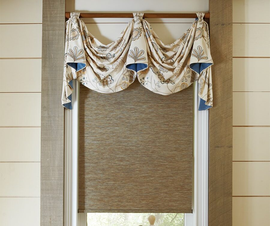 Swag Valance with genesis roller shade