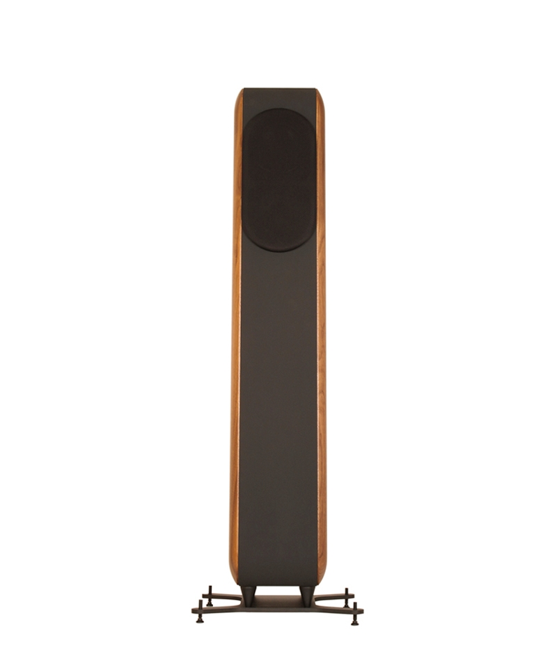 Chario Aviator Amelia Speaker. Chario Floor standing Speaker. Front view with grill cover on.