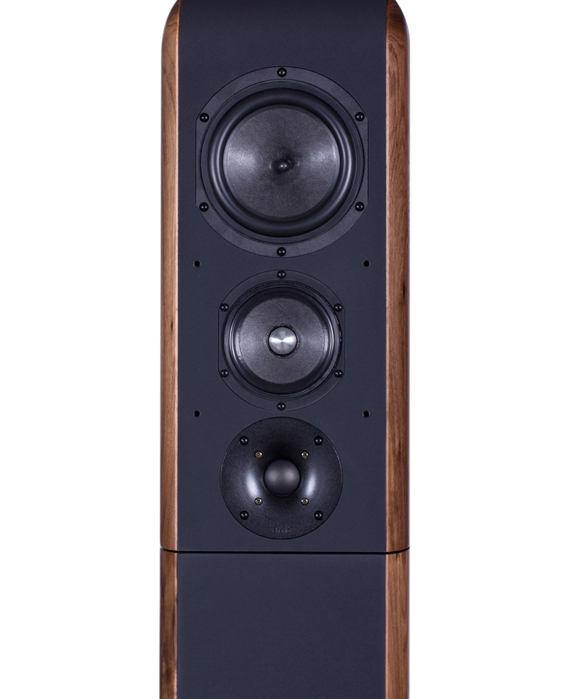 Chario Aviator Aria Speaker. Chario Floor standing Speaker. Front facing view without grill cover.