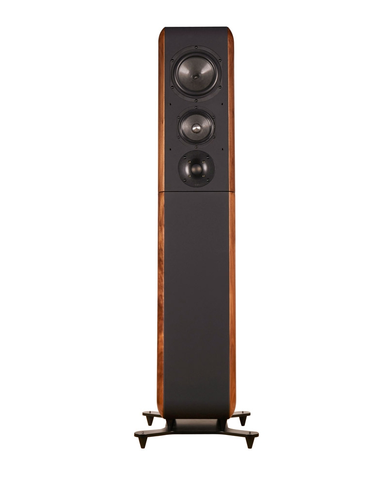 Chario Aviator Aria Speaker. Chario Floor standing Speaker. Front speaker view without grill cover.