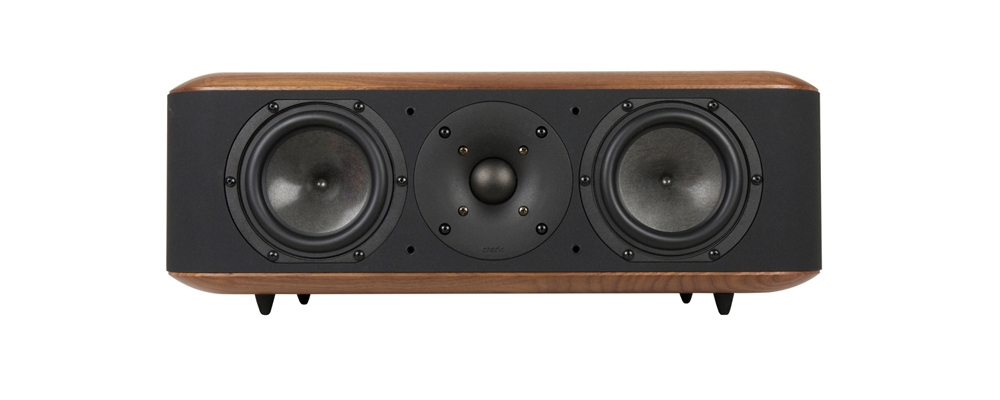 Chario Aviator Balbo Center Channel Speaker. Bookshelf Speaker. Front view without grill cover on.