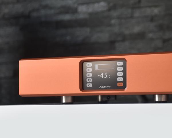Compact Amplifier in titanium orange