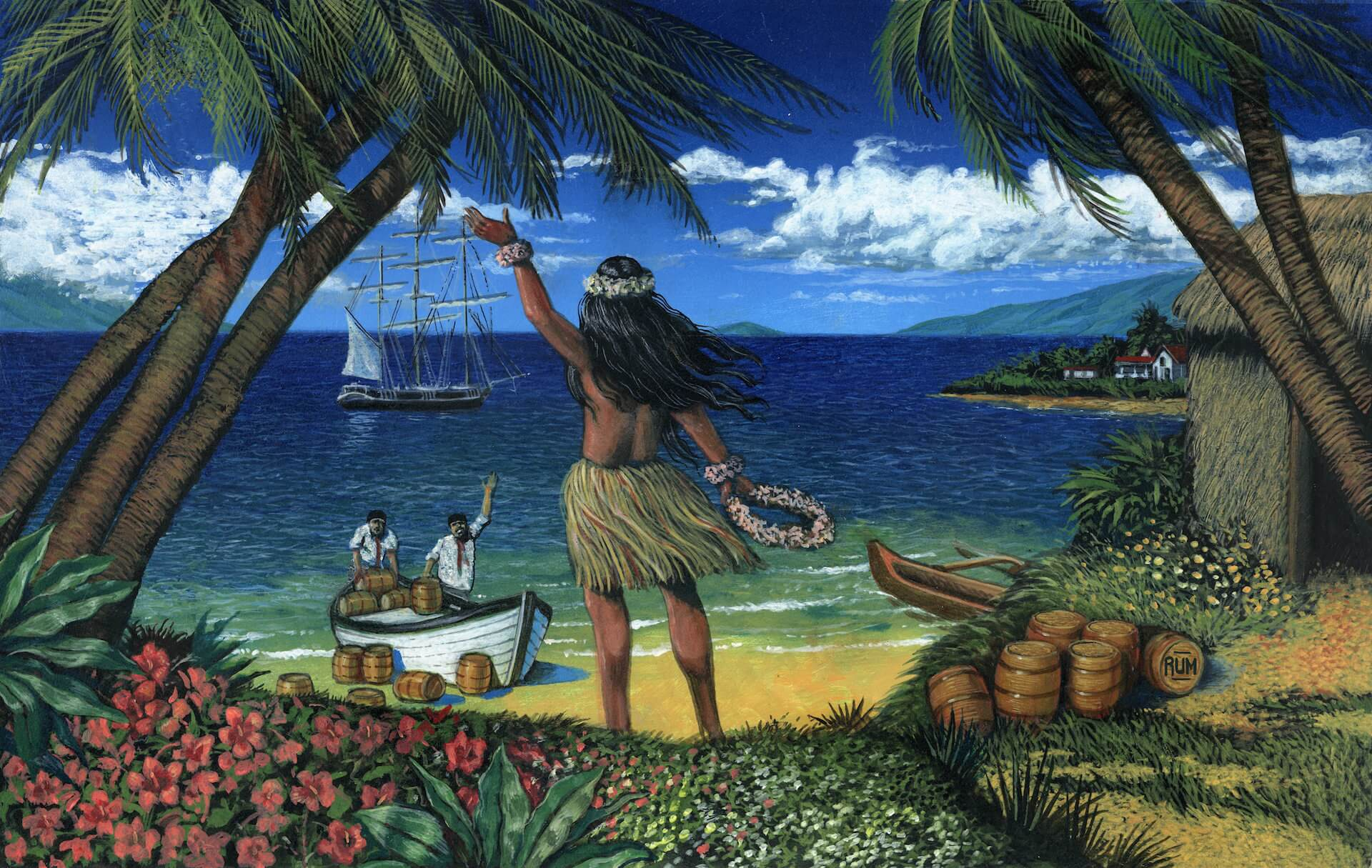 Old Lahaina Rum Label Artwork