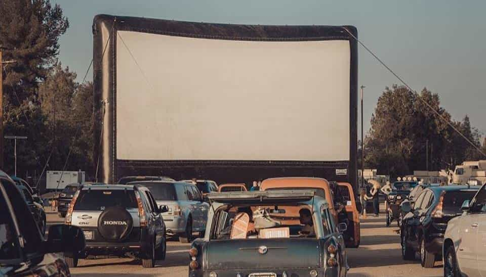 Outdoor Drive-In Screen Rental