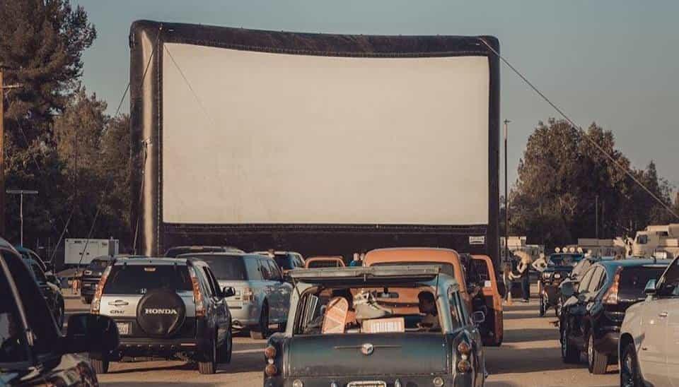 Outdoor Drive-In Screen Rental