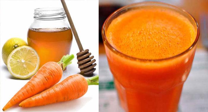 Jarabe para la flema, tos y gripe con zanahoria y miel