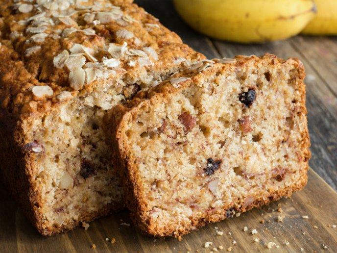 Recetas de tarta de avena y banana sin azúcar ni harinas