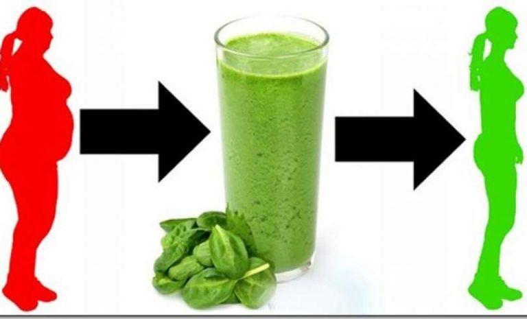 Receta de un Triple verde Smoothie de Espinacas para ayudarle a perder peso, prevenir la enfermedad.