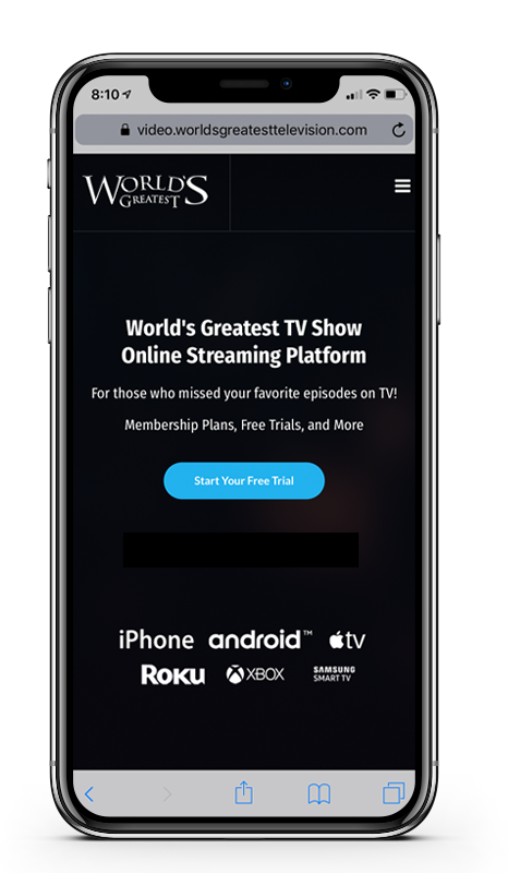 Worlds greatest tv show iphone