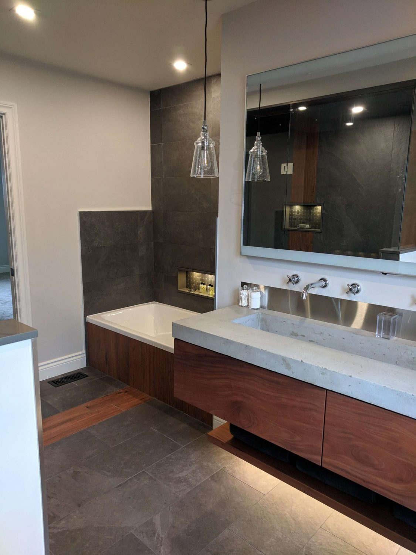 durham bathroom renovation and vanity installation