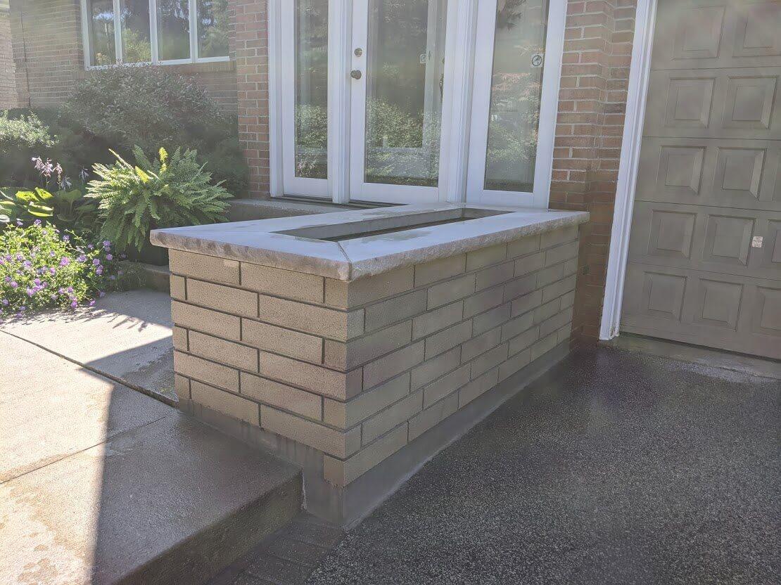 Garden Retaining Wall Construction