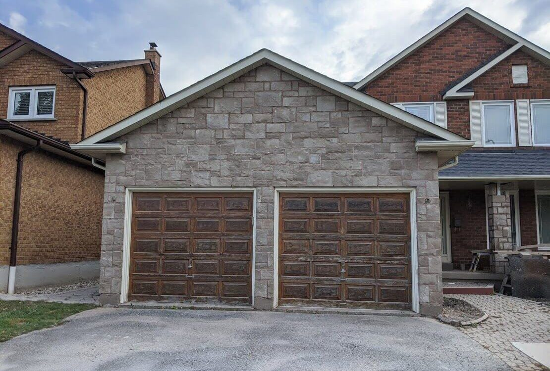 Garage Renovation Stone Masonry