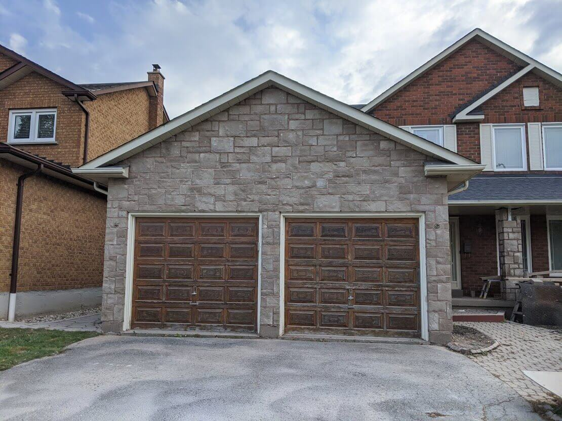 Garage Renovation Stone Masonry