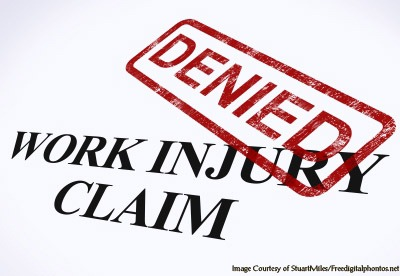 Work injury claim denied