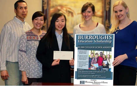 Megan Ng - Burroughs Education Scholarship Winner