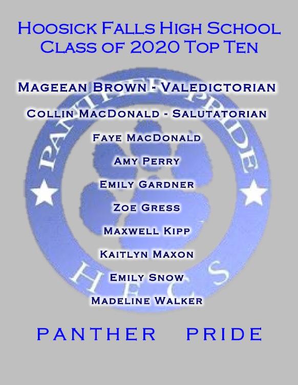Class of 2020 top 10 list