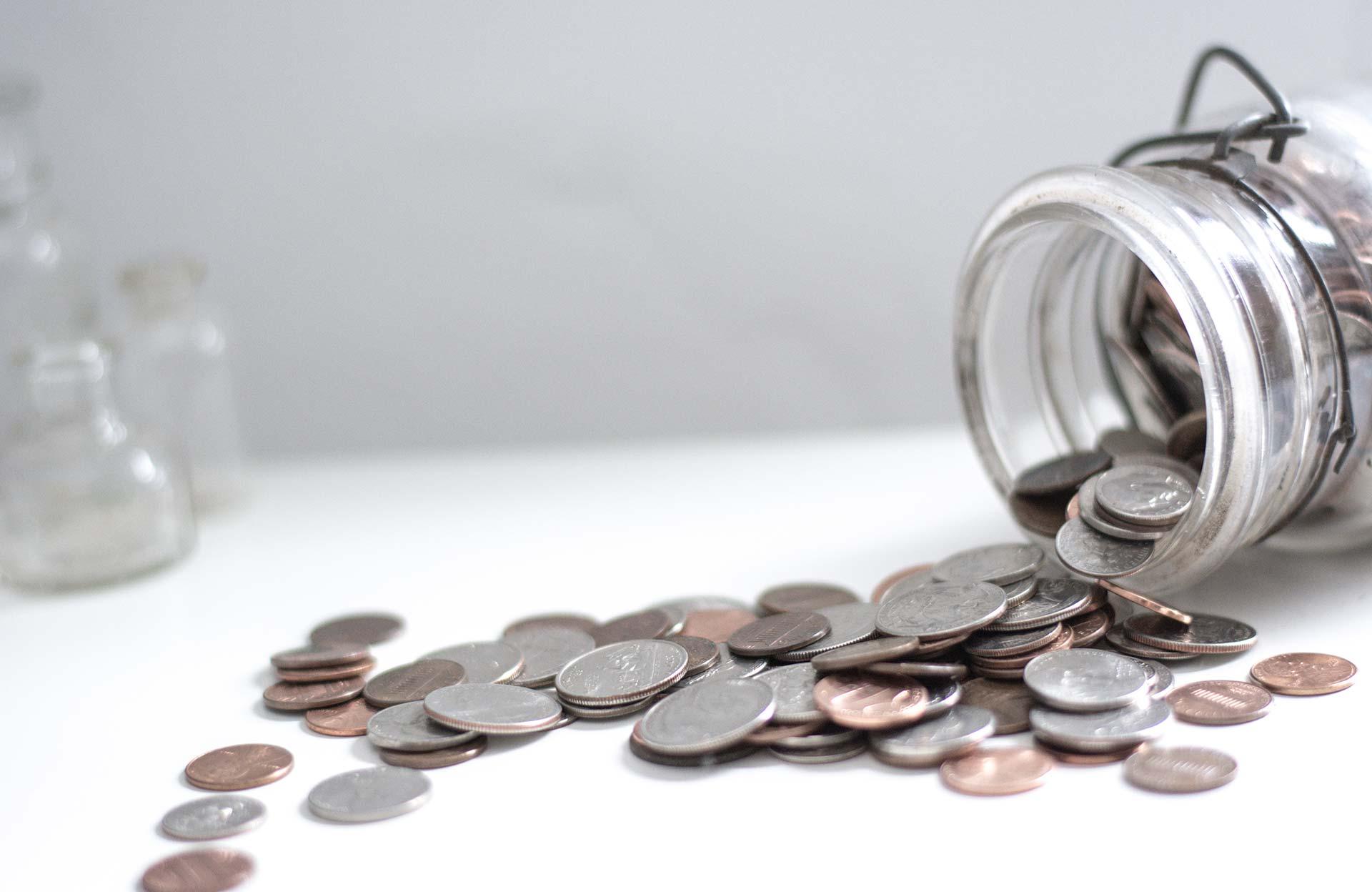 Coin collection jar